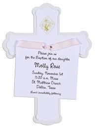 Imprintable Baptism Invitations Cross Invitation With Pink Ribbon Baptism Invitations Design
