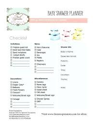 Baby Shower Planning Checklist Template Planner With Shixi