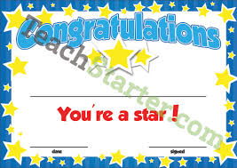 Star Student Certificates Youre A Star Certificate Editable