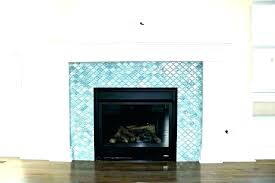 glass tile fireplace design surround
