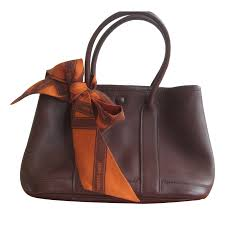 garden party hermes. Hermès Mini Garden Party Handbags Leather Other,Chocolate Ref.33417 Hermes