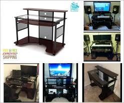 home workstation furniture. desk music workstation uk pro home studio glass gaming computer furniture