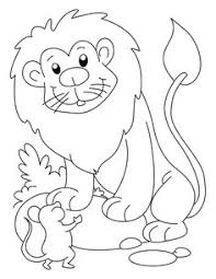 coloring pages see more lion mouse page daniel for pre