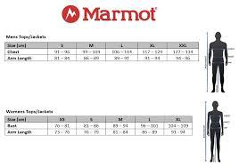 Marmot Size Chart Us 12 Size Chart Marmot Sleeping Bag Size Chart