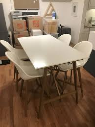 Tall bar table 40 Inch Ikea Fanbyn 38 Tall Bar Table With 4 Barstool Chairs Offerup Ikea Fanbyn 38 Tall Bar Table With 4 Barstool Chairs For Sale In