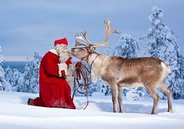 real santa claus and reindeer flying. The Real Santa Claus And Reindeer Flying