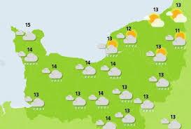 Le temps pour ce dimanche 29 octobre 2017 : ciel nuageux en Normandie