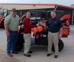 east texas kubota dealers select rtv give a way winner