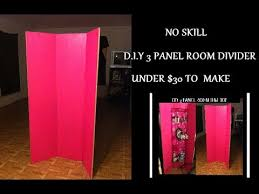 DIY: 3 Panel Room Divider Under $30 to Make Little to No Skill