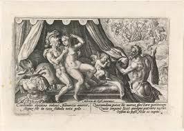 Venus En Mars Betrapt Door Vulcanus Metamorfosen Van Ovidius