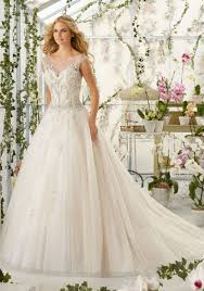 crystal beaded embroidery on tulle wedding dress style 2818