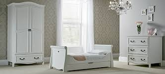 silver nursery furniture. The Windsor Range Is Designed With Curved Details In A Soft Antique White. It Includes Sleigh-style Cot Bed That Can Be Converted To Day And Toddler Silver Nursery Furniture