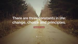 "Life Quotes Images Gorgeous Stephen R Covey Quote ""There Are Three Constants In Life Change"
