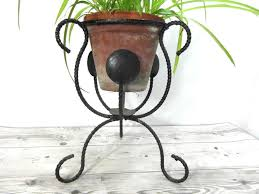 small metal plant stand french garden