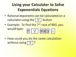 solve exponential equations 2 using your calculator