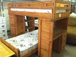 the wooden loft bed with desk