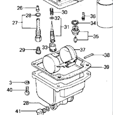 erratic idle on kz forum kz z z or more missing part 32 in this diagram it s a rubber o ring that slips onto the pilot adjustment screw part 31 is the pilot adjustment screw