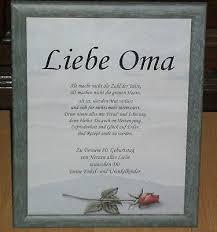Bilderrahmen Mit Spruch Liebe Oma 80 Geburtstag Dekoration