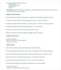 Wedding Photographer Resume Photography Job Description Photographer ...