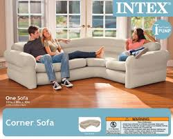 Inflatable Room Intex Inflatable Corner Living Room Neutral Sectional Sofa