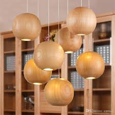 wood lighting fixtures. Modern Led Wood Chandelier Creative Wooden Small Ball Pendant Lights  Light European Restaurant Lighting Fixture Ceiling Hanging Wood Lighting Fixtures H