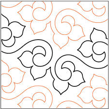 Machine Quilting Patterns | Lithe-quilting-pantograph-pattern ... & Lithe quilting pantograph pattern by Lorien Quilting Adamdwight.com