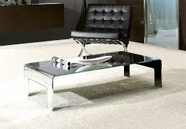 modern unico feet coffee table in 5 glass finish options thumbnail