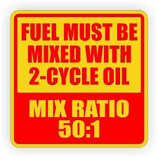 5 inch square 50 1 mixed 2 cycle stroke