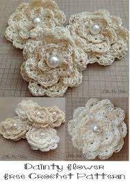 Crochet Flower Pattern Fascinating Dainty DIY Crochet Flowers With Free Pattern