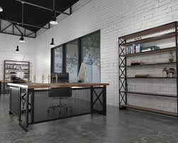industrial style office. beautiful industrial office space loft style