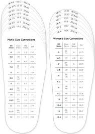 Men S Foot Size Chart Printable Shoes Measurement Chart For Printable Adult Men And Woman