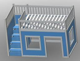 ana white build a full size playhouse loft bed with storage stairs free and