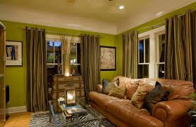 a casual green living room