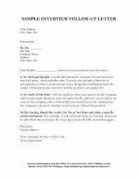 Interview Follow Up Letter Template Follow Up Letter Templates After