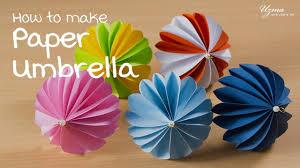 how to make paper umbrella diy room decoration idea paper craft