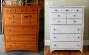 chalk paint furniture before and after17 Apart Over on eHow DIY Chalk Paint Dresser Makeover