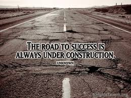Road Quotes Extraordinary Wallpaper With Quote On Success Road To Success Is Under