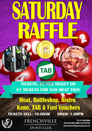 promotions rockhampton frenchville sports club saturday raffle poster compressed