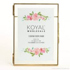 koyal whole pressed glass floating photo frames 8 pack with stands for horizontal or vertical pictures