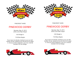 pinewood derby flyers the mormon home microsoft word pinewood derby flyer docx
