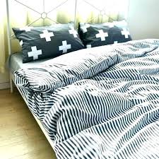 black and white striped duvet cover king gray bedding cotton stripe set quilt twin grey duvet cover