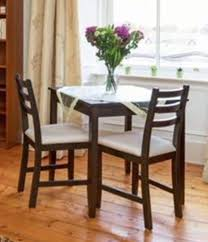 small dining table with 2 chairs dark wood brand new
