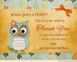 Adorable Owl Thank You Cards Baby Shower Thank You Cards 27830Owl Baby Shower Thank You Cards