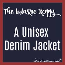 The Lularoe Kenny A Unisex Denim Jacket Devin Zarda