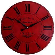 Red Vintage Wall Clocks