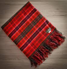 tartan rug modern macrae red