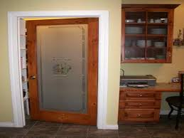 frosted glass french pantry door