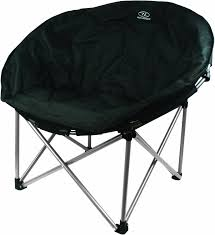 highlander deluxe and padded moon chair large black co uk sports outdoors