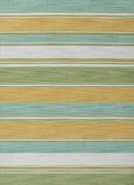 flat weave stripe blue green wool area rug palm frond