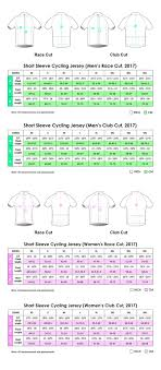 Custom Size Chart Nimblewear Custom Technical Apparel Cycling Triathlon Running